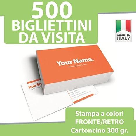 500 biglietti da visita bigliettini stampa fronte retro a colori