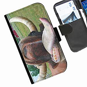 Hairyworm - Animals Samsung Galaxy S3 Mini (I8190, I8190N) leather side flip wallet cell phone case, cover