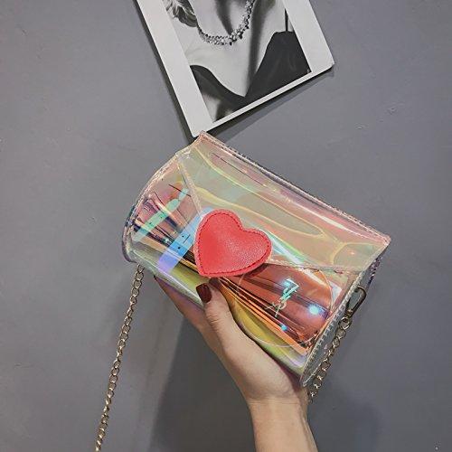 Shoulder Clear Mini Bag Chain Hologram Gold Women Purse Crossbody Clutch Handbag Laser S5Rw6InRqx