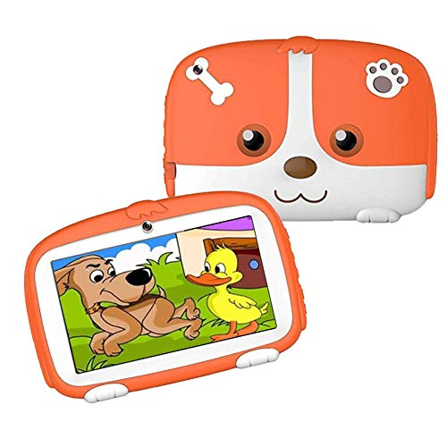 Kids Tablets 1GB+16GB 7 inch Android Tablets for Kids 3 to 6, GMS Certified, Parental Controls Friendly with Kids-Proof Case Included
