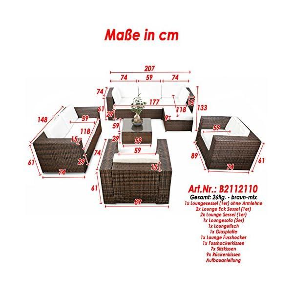 LD, mobili da giardino in polyrattan, mobili lounge, sgabello, tavolo, poltrona, divano 2 spesavip