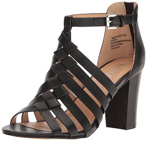XOXO Women's Baxter Dress Sandal, Black, 7.5 M US