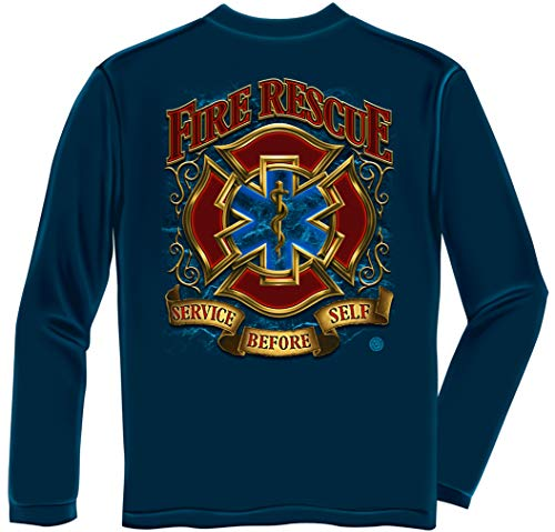 Firefighter Fire Rescue Gold Shield Long Sleeves ADD-FF2086LSL
