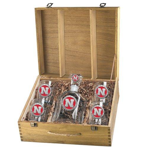University of Nebraska Capital Decanter Box Set - Enameled