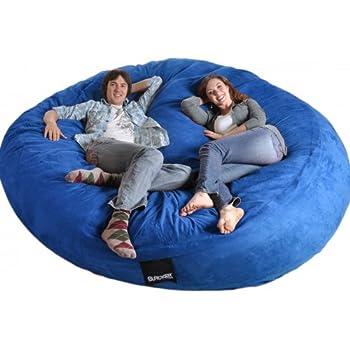 Amazon Com 8 Feet Round Navy Blue Xxxl Foam Bean Bag