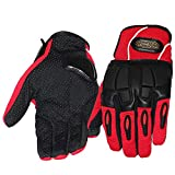 LNYF-OV Outdoor Gloves Riding Cross-Race Car Anti-Fall Anti-Slip Gloves Warm Knit, Red, Size: M,L,XL