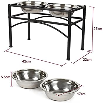 Pet Supplies Funkeen Pet Bowl Frame Double Diner Stand