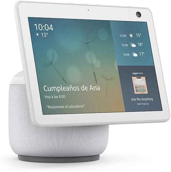 Novedad Echo Show 10 (3.ª generación) | Pantalla inteligente HD con movimiento y Alexa, Blanco