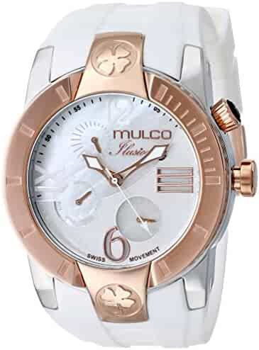 MULCO Unisex MW5-1877-013 ILUSION CRESCENT Analog Display Swiss Quartz White Watch