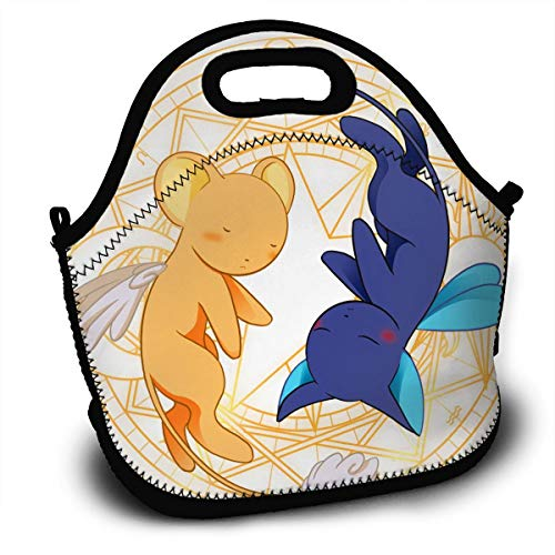 SH1DUGAOD Ker Threeberos & SPI Threeneli Sun Car Three Dcapthree Three Saku Threera Classics Fashion Handbag Pocket Lunch Bags For Adults Kids Nurse Teacher Work Outdoor ()