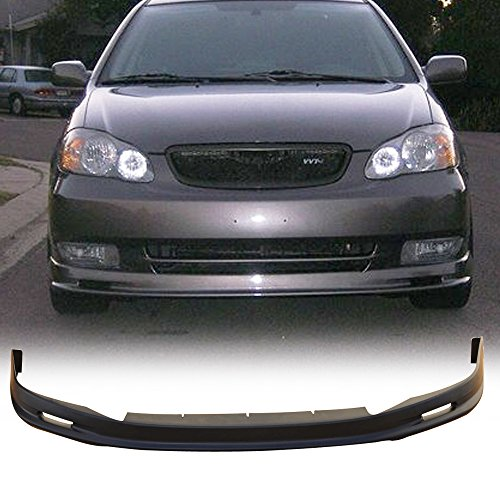 Front Bumper Lip Fits 2003-2004 Toyota Corolla | Black PP Guard Protection Finisher Under Chin Spoiler by IKON MOTORSPORTS