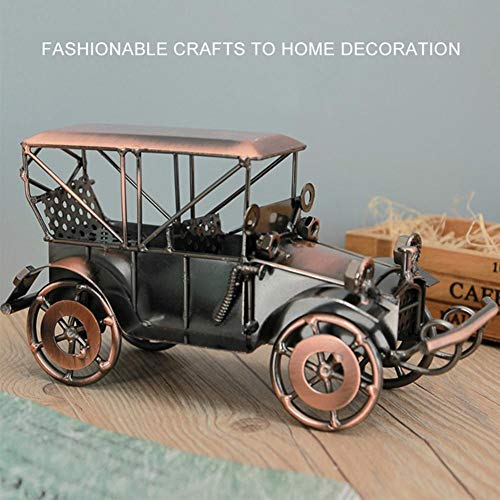 xiaokkiss Vintage Handcrafted Iron Vehicle Model Home Office Desktop Decoration Car Sculpture Crafts