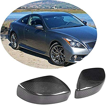 Senmubery Car Carbon Fiber Side Rearview Mirror Cover Caps ...