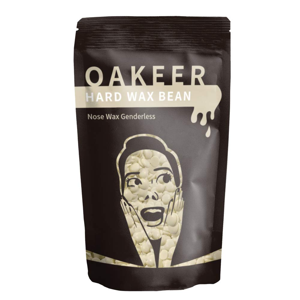 Oakeer 100g Nose Wax Painless Hair Removal for Men Women at Home Nose Waxing Safe Effective, Easy to Nose Hair Removal