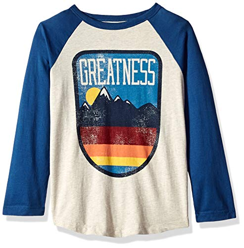 Gymboree Boys Long Sleeve Graphic Tee, Skeleton Blue M from Gymboree