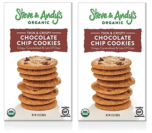 Steve & Andy's Organic and Gluten Free Cookies (Chocolate Chip, 2 Boxes)