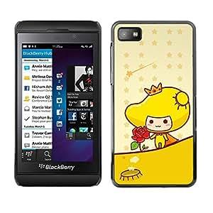 LECELL -- Funda protectora / Cubierta / Piel For Blackberry Z10 -- Cute Princess Rose --
