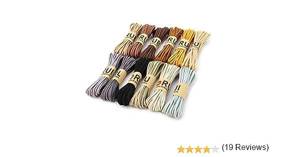 RUBY - 12 Rollos Cordón Antelina Multicolor Grosor 3mm x 5metros cada Rollo Cuerda para Pulseras Llavero y Fabricación de Bisuterías y Manualidades Artesanía (NATURAL): Amazon.es: Hogar