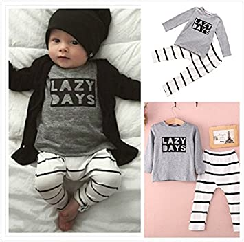 "6446d474730 G4RCE Cute Newborn Unisex 6 9 12 18 24 Months Clothes""Lazy Days""  Baby"