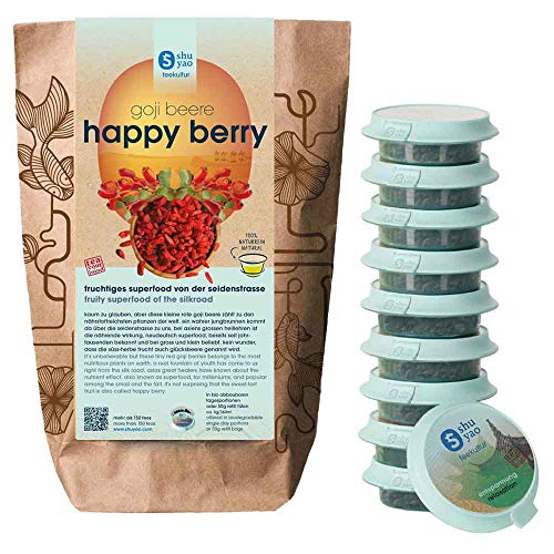 SHUYAO HAPPY BERRY Collection 12x fruchtiges Superfood mit Glücksbeere GOJI