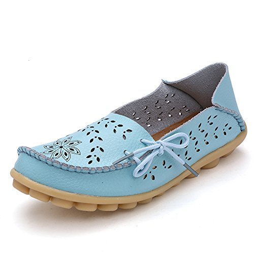 Women's Fashion Comfortable Driving Shoes(Blue) - 2