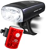Cycle Torch Night Owl USB Rechargeable Bike Light Set, Perfect Commuter Safety Front and Back Bicycle Light LED Combo – FREE Bright TAIL LIGHT – Compatible with Mountain, Road, Kids & City Bicycles