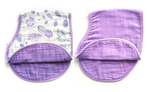 Cloth Feeding Drooling Teething Purple