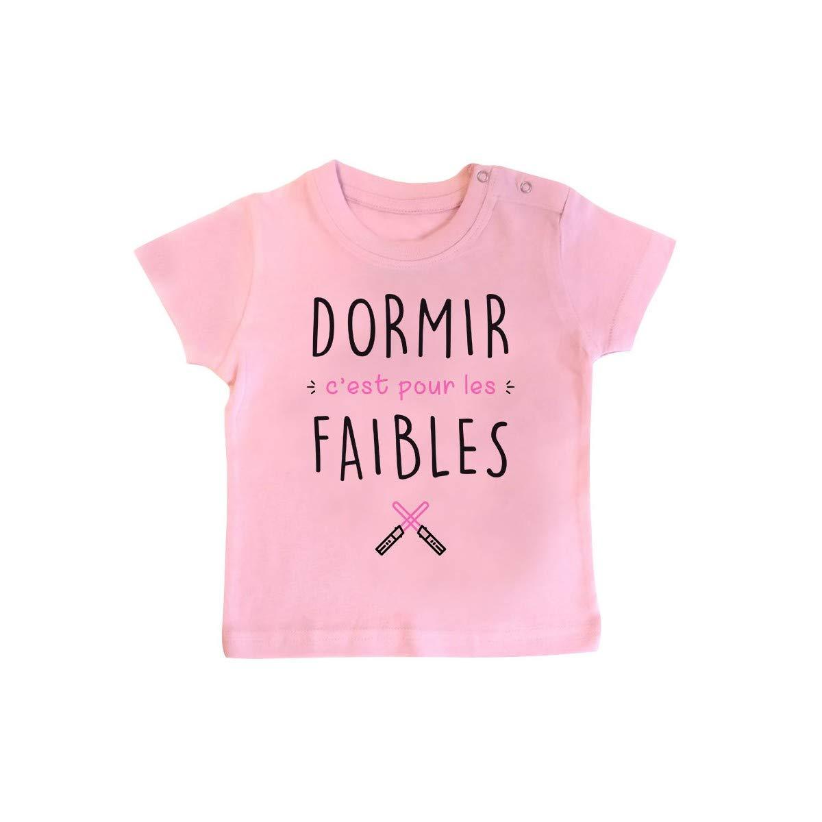 T-Shirt b/éb/é Dormir Cest pour Les Faibles Fille Inconnu