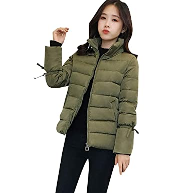 competitive price 77c51 7ad2e Ears Damen Winterjacke,Wintermantel Kurzer Mantel ...