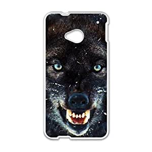 Happy The Wolf Cell Phone Case for HTC One M7