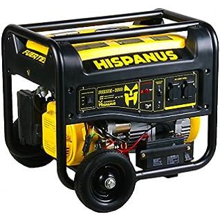 HISPANUS GENERADOR ELECTRICO 3500W, 230V GASOLINA. GAMA FUERTES