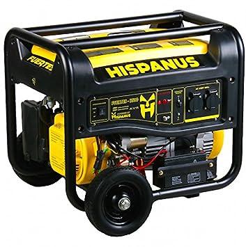 HISPANUS GENERADOR ELECTRICO 3500W, 230V GASOLINA. GAMA FUERTES: Amazon.es: Bricolaje y herramientas