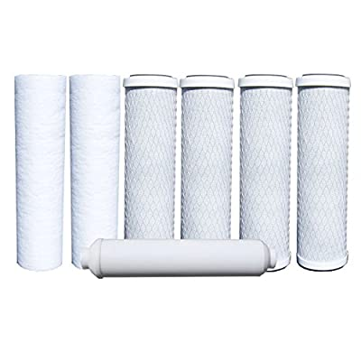 CFS COMPLETE FILTRATION SERVICES EST.2006 Watts RO Filters Premier Compatible 1-Year 5-Stage Reverse Osmosis Water Filter Replacement Kit, 7-Pack