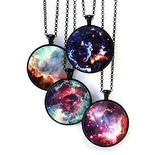 Necklace Personalized Omega (Nebula Necklace - Omega, Unicorn's Rose, Cosmic Cloud, Small Magellanic Cloud)