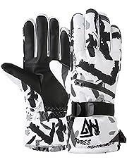 Winter Ski Gloves-Waterproof Warm Snowing Gloves Women Skateboarding Touchscreen Multi-Functions Mitten for Men