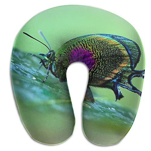 KopgLnm Best Rainbow Butterfly Wallpaper Neck Pillow Comfortable Soft Microfiber Neck-Supportive Travel Pillow for Home, Neck Pain