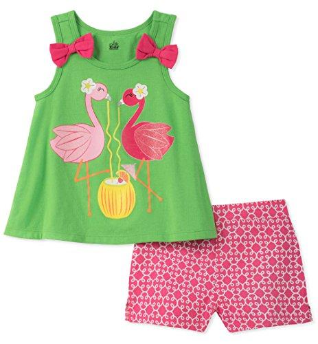 - Kids Headquarters Girls' Little 2 Pieces Shorts Set, Green, 4