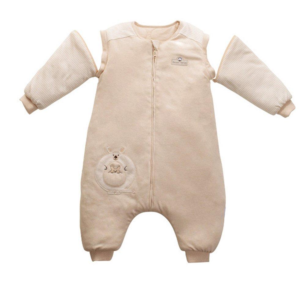 iEvolve 100% Baumwolle Baby Schlafsäcke Pucksack Abnehmbare Ärmel Pucktücher Herbst Baby Wrap Decke Winter Mit Känguru