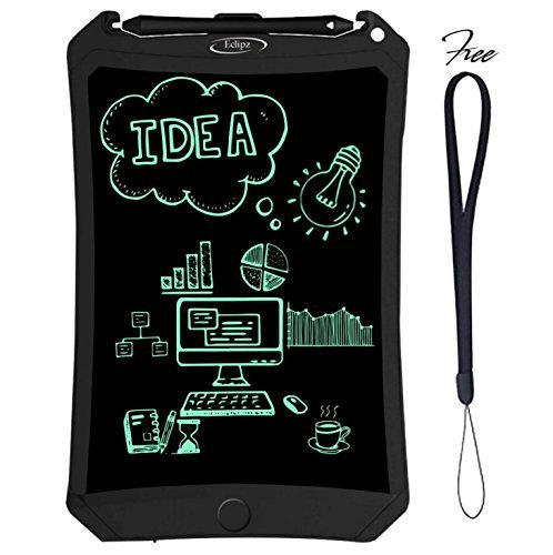 Eclipz LCD Writing Tablet Pad: 8.5 Electronic Drawing & Writing Board For Kids & Adults, Portable & Magnetic eWriter, Digital, Handwriting Paper Doodle Board For School, Fridge Or Office