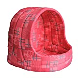 Iconic Pet Standard Igloo Bed, Small, Red