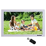 Kenuo 17 Inch Digital Photo Picture Frame Advertising Media Player 1440x900(16:9) HD Wide Screen Advertising Machine MP3/Photo/Video Player with Remote Control(White)