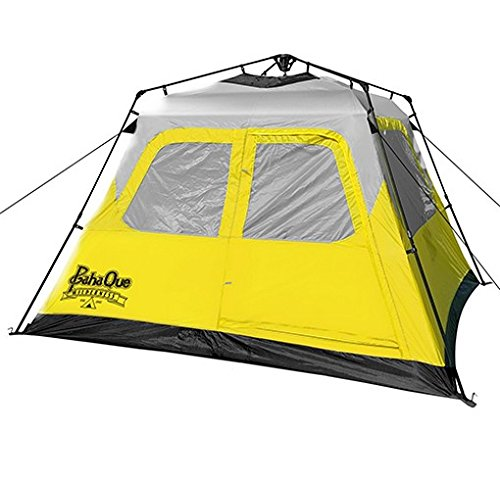 - PahaQue Basecamp Quick Pitch Tent Grey/YLW 6p PQF100