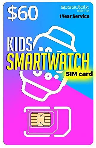 Kids Smart Watch SIM Card for 2G 3G 4G LTE GSM Smartwatches and Wearables - 12 Months Service