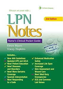 Lpn Notes Nurses Clinical Pocket Guide