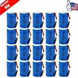 20 x NiCd 4/5 SC Sub C 1.2V 2200mAh Rechargeable Battery With Tab Blue USA