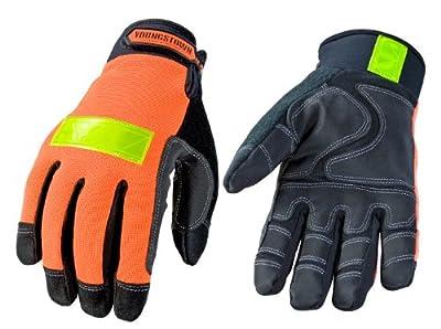 Youngstown Glove Safety Orange Waterproof Winter Performance Glove, Orange