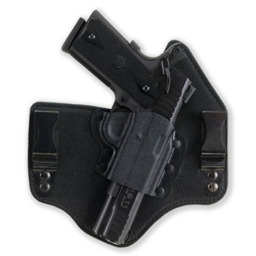 Galco Pistol Holsters (Galco KT225B Kingtuk Inside the Waistband Gun Holster for Glock 22, Left, Black)