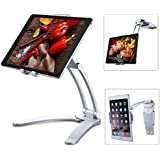 "Jubor iPad Stand Wall Mount, 2-in-1 Kitchen Tablet Stand Adjustable Holder for iPad Pro, Surface Pro, Nintendo Switch, iPad Mini, 7""-13"" Tablet, EASY INSTALL 360° Rotating CounterTop Desk Recipe"
