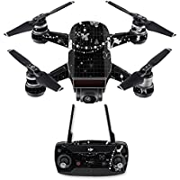 Skin for DJI Spark Mini Drone Combo - Black Butterfly| MightySkins Protective, Durable, and Unique Vinyl Decal wrap cover | Easy To Apply, Remove, and Change Styles | Made in the USA
