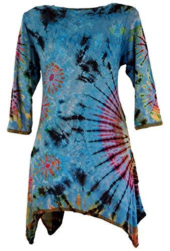 38 Kurze Synthetisch Pixi Kleid Shop Minikleid Guru Alternative Bekleidung Size Batik Hellblau Damen Boho Kleider Grün x88FPvwqX